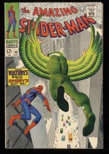 Amazing Spider-Man #48 VG+ 4.5 Vulture!