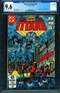The New Teen Titans #26 CGC 9.6 1st TERRA 1982 2057591006
