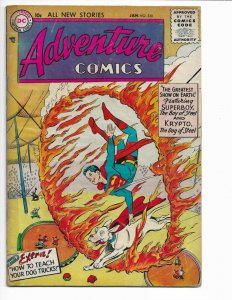 Adventure Comics #220 (1956) KEY TO SUPER PETS!! HOT BOOK! 3.5-