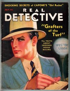 REAL DETECTIVE PULP-JULY 1932-AL CAPONE'S WHITE SLAVE TRAFFIC-ATLANTA-VG/FN