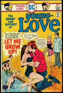 Young Love #117 1975- Great Swimming Pool cover- DC Romance VF