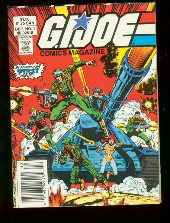 G.I. JOE COMICS MAGAZINE #1 DIGEST SIZED MARVEL VF