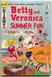 Archie Giant Series #147 1966- Betty and Veronica Summer Fun