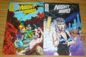 Nightbird #1-2 VF/NM complete series - harrier comics bad girl set lot 1988