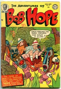 Adventures of Bob Hope #16 1952- Skull & Natives cover- DC Golden Age VG