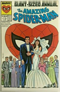 AMAZING SPIDER-MAN ANNUAL#21 VF/NM 1987 WEDDING ISSUE MARVEL COMICS