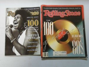 Rolling Stone Magazine lot 6 different issues 100+ Greatest (1987-2008)