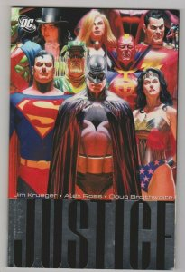 JUSTICE VOL. 1 by Jim Krueger & Alex Ross 2006 DC COMICS TRADE PAPERBACK