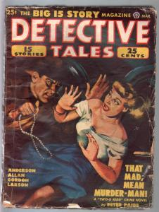 Detective Tales 3/1949-Popular-blonde babe cover-Peter Paige-Talmage Powell-VG