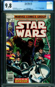 STAR WARS COMICS #3 1977- CGC 9.8 A New Hope Marvel 1989558004