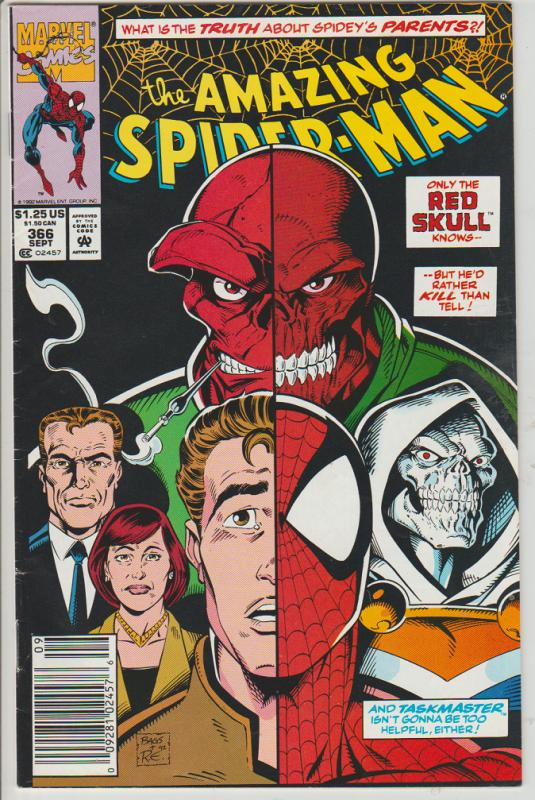 THE AMAZING SPIDERMAN  #366 - RED SKULL