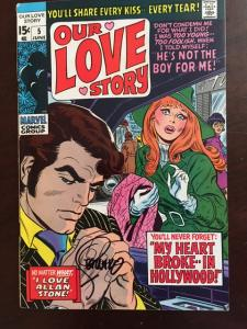 OUR LOVE STORY #5 SIGNED STERANKO GLOSSY F/VF RARE HTF ISSUE