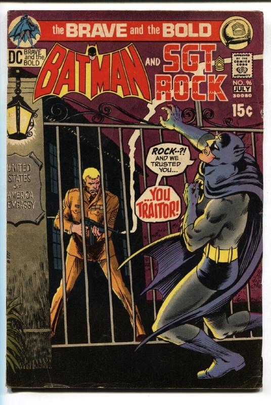 Brave And The Bold  #96 comic book 1971 - Batman- Sgt Rock DC Comics VG/FN