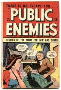 Public Enemies #6 1949-Golden Age crime comic VG