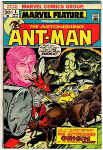 MARVEL FEATURE (1971) 8 VG-F  Mar. 1973 Origin Ant Man/