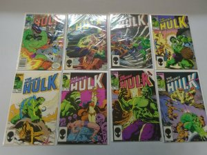 Incredible Hulk comic lot 28 different from #300-350 avg 8.0 VF (1984-88)