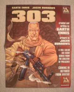 303 Promo Poster, Garth Ennis, 10x13, 2004, Unused, Hunting the Enemy