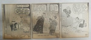 (300) The Doolittles Dailies by Quin Hall from 1947 Size 4 x 5 inches AP Strip