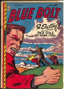 Blue Bolt Vol.8 #8 1948-Novelty-Sgt. Spook-Roy Rogers photo ad-G/VG