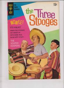 the Three Stooges #42 VF march 1969 - silver age gold key comics - photo cover