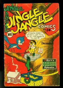 Jingle Jangle #24 1946- Famous Funnies- Christmas cover- G/VG