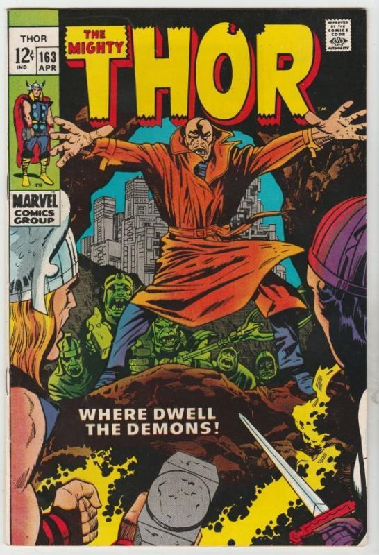 Thor #163 The Mighty strict NM- 9.2 High-Grade Warlock Him Cameo Richmond 20pct