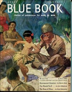 BLUE BOOK PULP-APRIL 1944-FN-STOOPS COVER-BEAM-KEYNE-MAGEEE FN