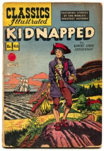 Classics Illustrated #46 HRN 62-KIDNAPPED G