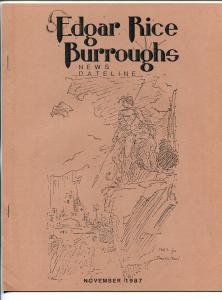 Edgar Rice Burroughs News Dateline #28  11/1987-Tarzan-fanzine-mewsletter-VF