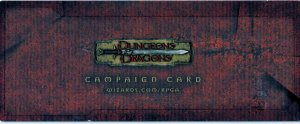 Exclusive Dungeons and Dragons Gaming Card