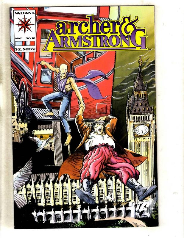 Lot Of 5 Archer & Armstrong # 10 NM Valiant Comic Books 1st Prints MR8