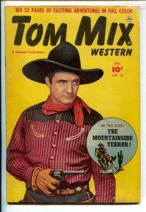 Tom Mix Western #36 1950-Fawcett-Photo cover -Carl Pfeufer story art-VG