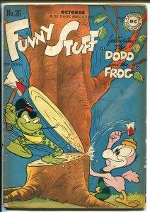 Funny Stuff #26 1947-DC Comics-Dodo & The Frog-Capt Tootsie-classic cover-VG
