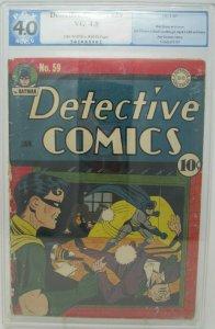 Detective Comics #59 ~ 1942 DC ~ PGX 4.0
