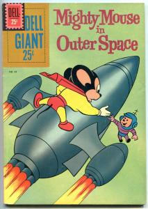 DELL GIANT #43 1961 Mighty Mouse in Outer Space ROCKET COVER FN