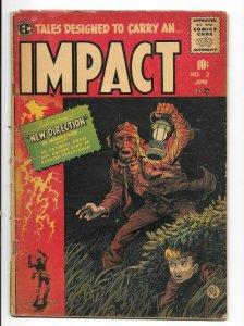 Impact #2 VG- EC Comics Jack Davis Cover Crandall & Ingels Art 1955 Horror