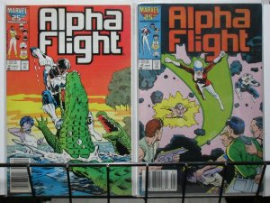 ALPHA FLIGHT (1983-1990) 41-42 Purple Girl