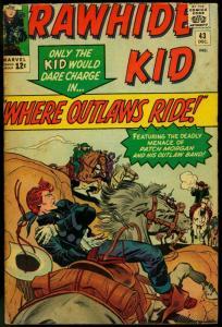 Rawhide Kid #43 1964- Marvel Western- G