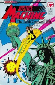 Justice Machine (1987 series) #22, NM + (Stock photo)