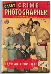Casey Crime Photographer #4 1950- Rare Final issue-reading copy
