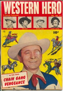 Western Hero #111 1952-Tex Ritter-Tom Mix-Gabby Hayes-Monte Hale-VG+