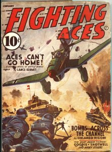 FIGHTING ACES-1942 JAN-DAVID GOODIS STORY-WW II AVIATION BATTLE PULP FICTION