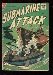 SUBMARINE ATTACK #13 1958-CHARLTON WAR COMICS-WW II G/VG