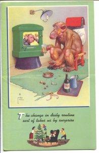 Lawson Wood-Monkeys-Salesman Sample Calendar Art 1949-folds out-FN