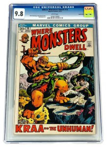 WHERE MONSTERS DWELL #15 CGC 9.8 SINGLE HIGHEST GRADED 1972 NM/MT White