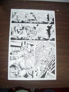 COMMON GROUNDS #3 PG 2--ORIGINAL COMIC ART--DAN JURGENS FN