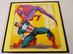 1988 Captain America ORIGINAL Vintage Framed 12x12 Poster Display