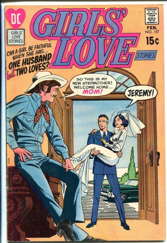 GIRLS' LOVE STORIES #157-DC ROMANCE-COWBOY COVER FN/VF