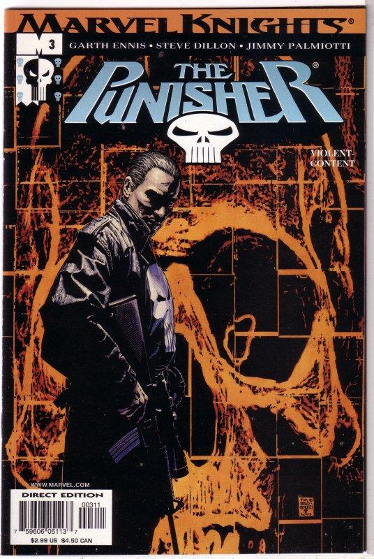 Punisher (vol. 6, 2001) # 3 VF Ennis/Dillon, Bradstreet cover