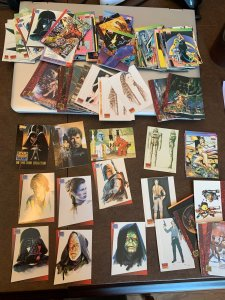 Star Wars Galaxy Trading Cards (1993) - Assortment of about 150 cards
